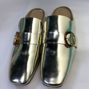 TORY BURCH SIDNEY BACKLESS LOAFERS